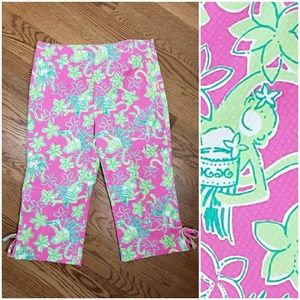 Green Monkey Lilly Pulitzer Capris